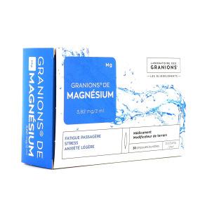 Granions magnésium 30 ampoules