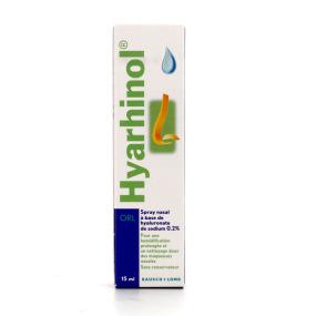 Hyarhinol Spray nasal à base de Hyaluronate de Sodium 15ml
