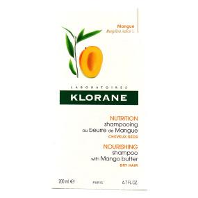 Klorane Shampooing au beurre de Mangue Nutrition