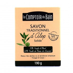 Le Comptoir du Bain Savon Traditionnel d'Alep Solide 190 g