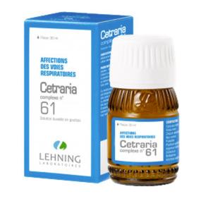 Lehning Cetraria Complexe 61 Solution buvable en gouttes 30 ml