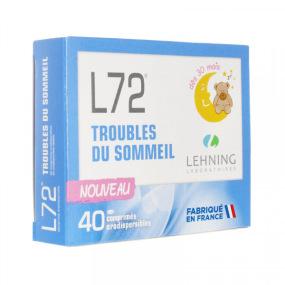 Lehning L72 Troubles du Sommeil comprimés orodispersibles