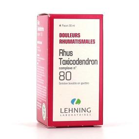 Lehning Rhus Toxicodendron Complexe 80 Solution buvable en gouttes 30 ml