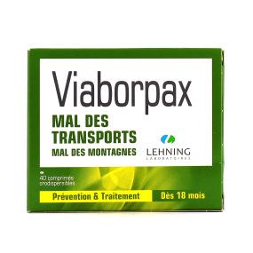 Lehning Viaborpax Mal des Transports 40 comprimés