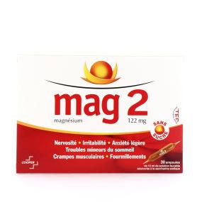 Mag 2 sans sucre 30 ampoules