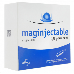 Maginjectable 0,8% 10 ampoules de 10ml