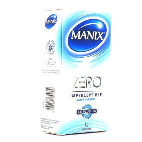 Manix Zéro Imperceptible Extra-Lubrifié 12 Préservatifs