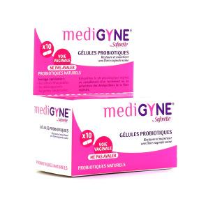 Medigyne 10 Gélules Vaginales Probiotiques