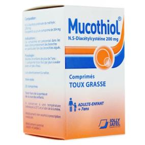 Mucothiol 200 mg Toux Grasse