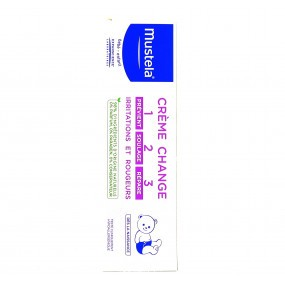 Mustela Crème change 1>2>3  Soin complet de l'épiderme fessier