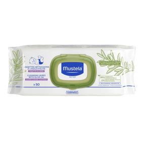 Mustela - lingette nettoyante à l'huile d'olive - 50 lingettes