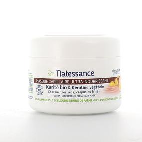 Natessance masque capillaire ultra-nourissant Karité Bio & kérartine végétale