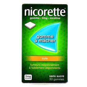 Nicorette fruits gommes 2 mg sans sucre