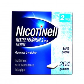 Nicotinell menthe fraîcheur 2 mg gommes sans sucre