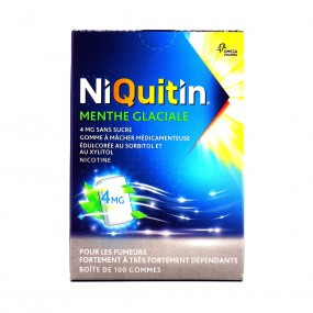 Niquitin 4mg menthe glaciale 100 gommes