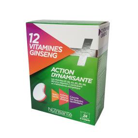 Nutrisanté Stévia 12 Vitamines + Ginseng Complexe Énergisant 24 comprimés