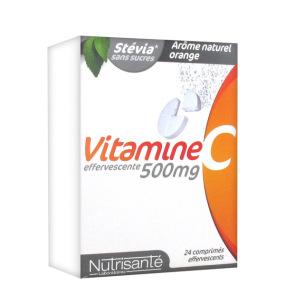 Nutrisanté Stévia Vitamine C effervescente 500mg 24 comprimés