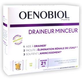 Oenobiol Draineur Minceur thé ou pêche 21 sticks