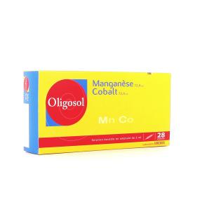 Oligosol manganèse cobalt 28 ampoules