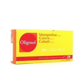 Oligosol manganèse cuivre cobalt