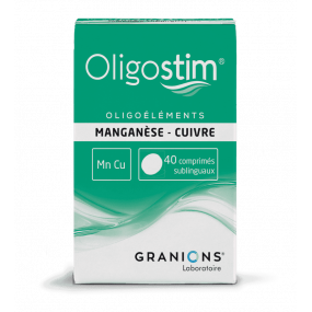Oligostim Manganèse Cuivre 40 comprimés