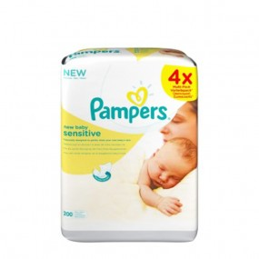 Pampers New Baby Sensitive Lot 4x 50 lingettes