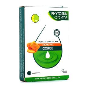 Phytosun Aroms Pastilles Miel sans sucres gorge 24 Pastilles