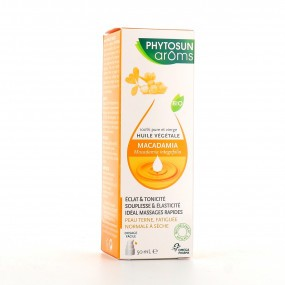 Phytosuns Arôms Huile Végétale de Macadamia Bio Flacon-Pompe de 50 ml