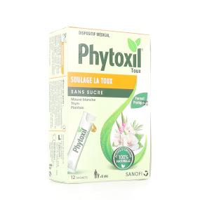 Phytoxil Sans Sucre Sirop Toux 12 sachets