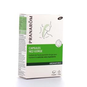 Pranarom Aromaforce Capsules Nez-Gorge BIO 30 capsules