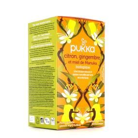 Pukka Infusion Citron Gingembre Miel de Manuka BIO