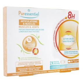 Puressentiel - Articulations Patchs Chauffants - Forme Spécifique Dos - Boite De 2