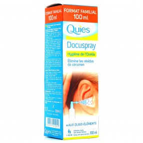 Quies Docuspray hygiène du conduit auditif 100 ml