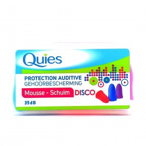 QUIES Protection auditive DISCO 35dB Mousse 3 Paires