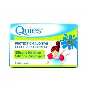QUIES Protection auditive Silicone natation Enfant 3 paires