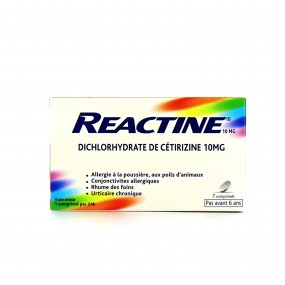 Reactine 10mg 7 comprimés
