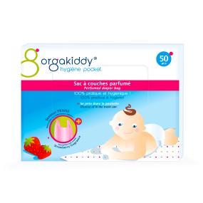 Sac à couches parfumé senteur talc pour bébé Orgakiddy