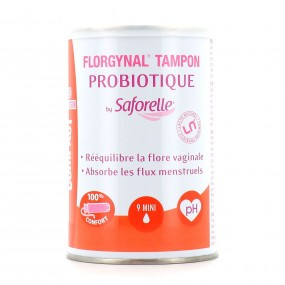 Saforelle Florgynal Tampon Probiotique Mini avec Applicateur Compact x9