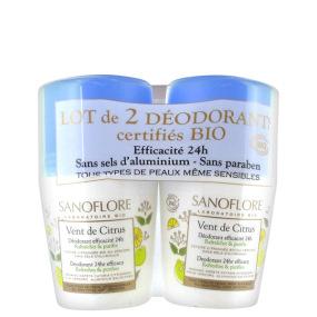 Sanoflore Vent de Citrus Déodorant Roll-on Lot 2x 50ml