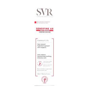 Sensifine AR crème riche soin intensif hydratant apaisant anti-rougeurs en 40 ml