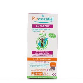 Shampooing Masque Traitant Anti-Poux 2-en-1 + Peigne