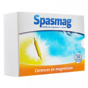Spasmag solution buvable 30 ampoules