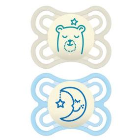 Sucette Perfect Nuit en silicone  pour bébé de 0-6 mois Lot de 2