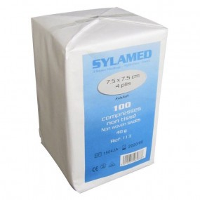 SYLAMED Compresses non tissé Paquet de 100 Compresses