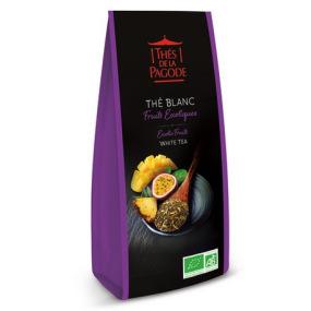 Thé de la Pagode - Thé blanc fruits exotiques Bio - Vrac (en feuilles) 100g
