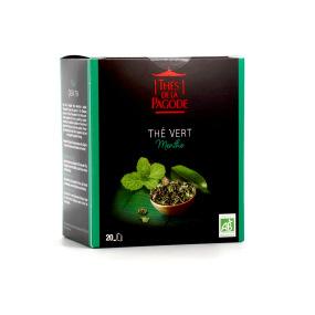 Thé de la Pagode - Thé vert à la menthe Bio - 20 infusettes