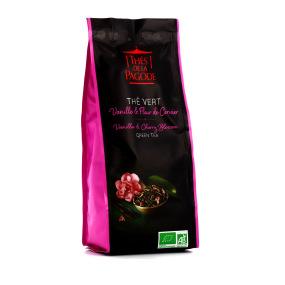 Thé de la Pagode - Thé vert vanille & fleur de cerisier Bio - Vrac (en feuilles) 100g