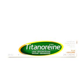 Titanoréïne à la lidocaïne 2% crème rectale 20g