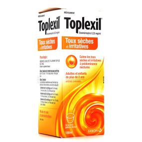 Toplexil Sirop Toux Sèche et Irritatives Sans Sucre ou Caramel 150 ml