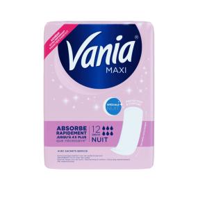 Vania Maxi Nuit 12 Serviettes hygiéniques